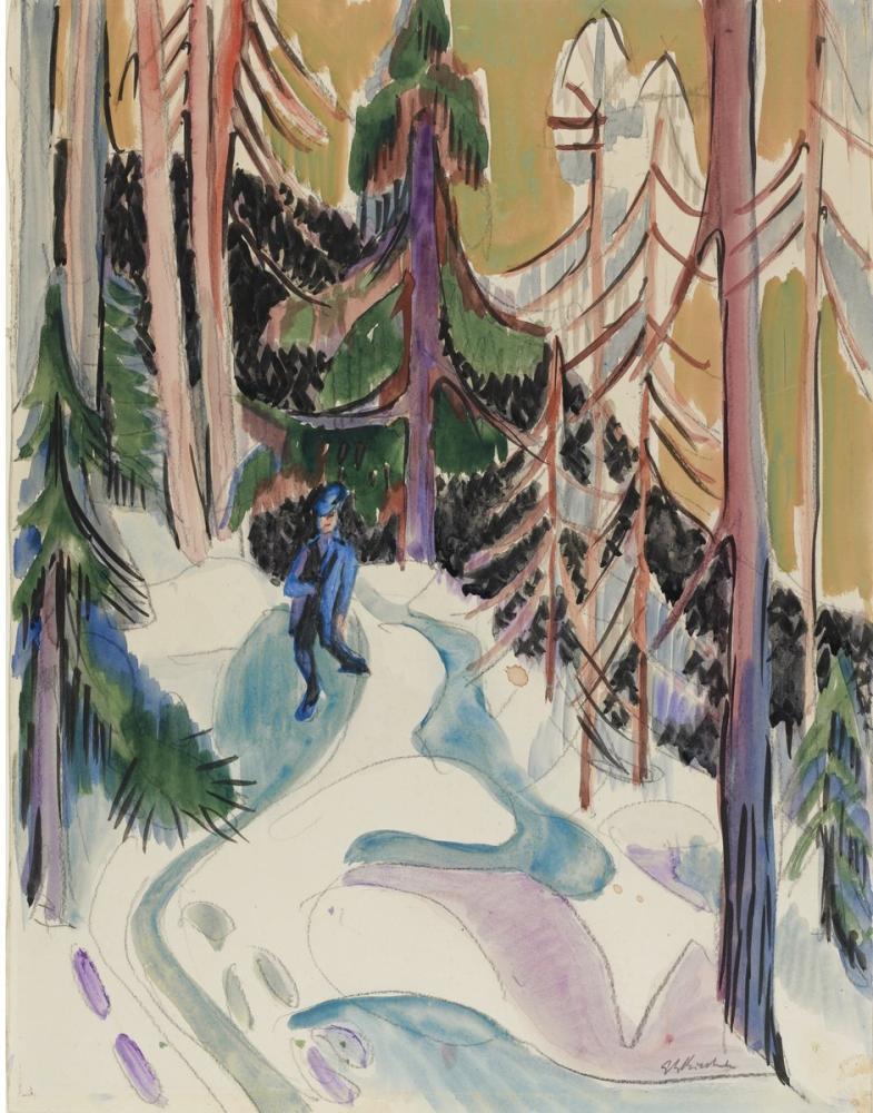 Ernst Ludwig Kirchner, Ormanda Yürüyüş, Figür, Ernst Ludwig Kirchner, kanvas tablo, canvas print sales