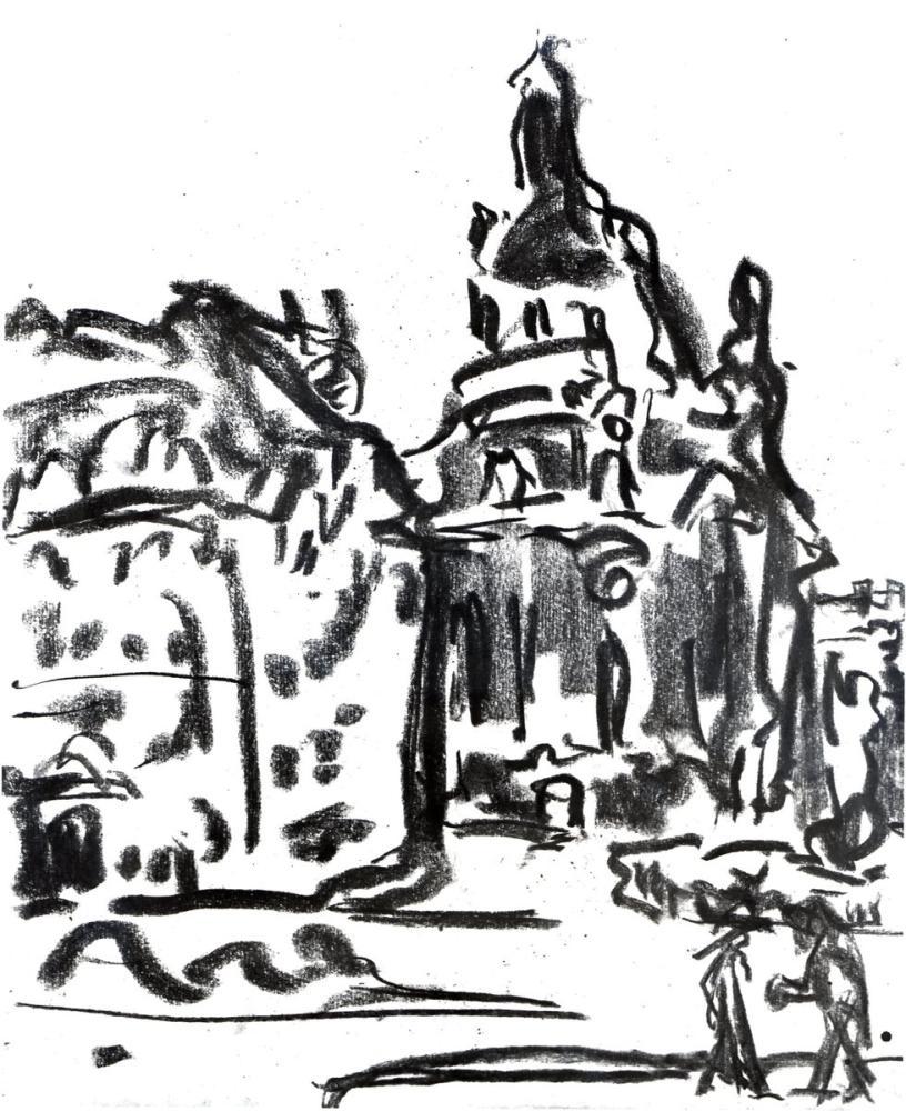 Ernst Ludwig Kirchner, Frauenkirche, Figür, Ernst Ludwig Kirchner, kanvas tablo, canvas print sales