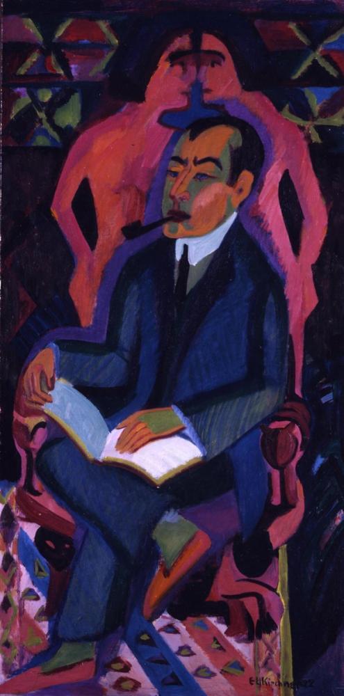 Ernst Ludwig Kirchner, Portrait Manfred Schames, Figure, Ernst Ludwig Kirchner, kanvas tablo, canvas print sales