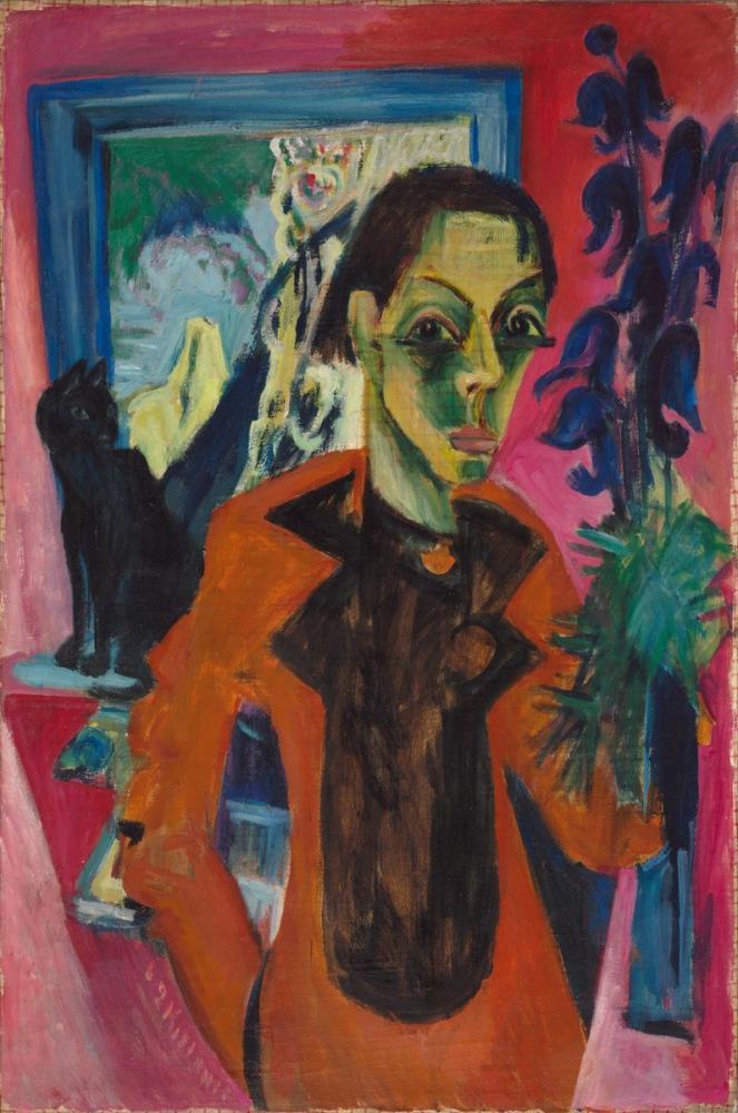 Ernst Ludwig Kirchner, Self Portrait, Figure, Ernst Ludwig Kirchner, kanvas tablo, canvas print sales