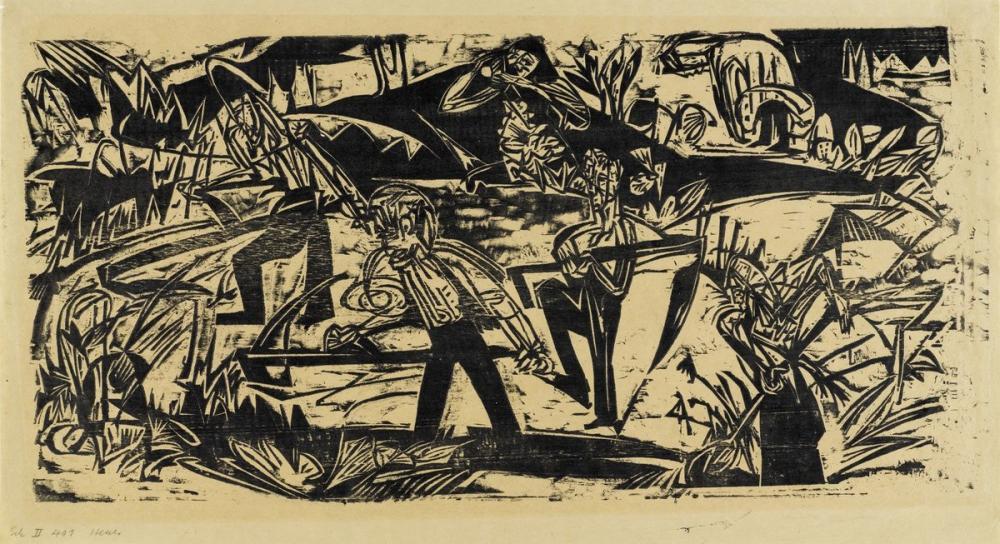 Ernst Ludwig Kirchner, Heuer, Figür, Ernst Ludwig Kirchner, kanvas tablo, canvas print sales