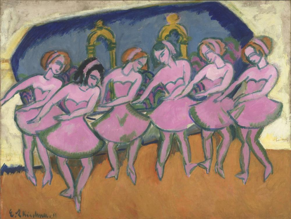 Ernst Ludwig Kirchner, Six Dancers, Figure, Ernst Ludwig Kirchner, kanvas tablo, canvas print sales