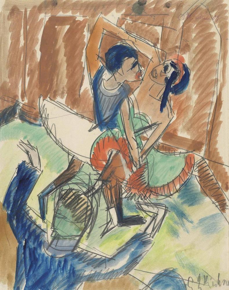 Ernst Ludwig Kirchner, Negertanz, Figure, Ernst Ludwig Kirchner, kanvas tablo, canvas print sales