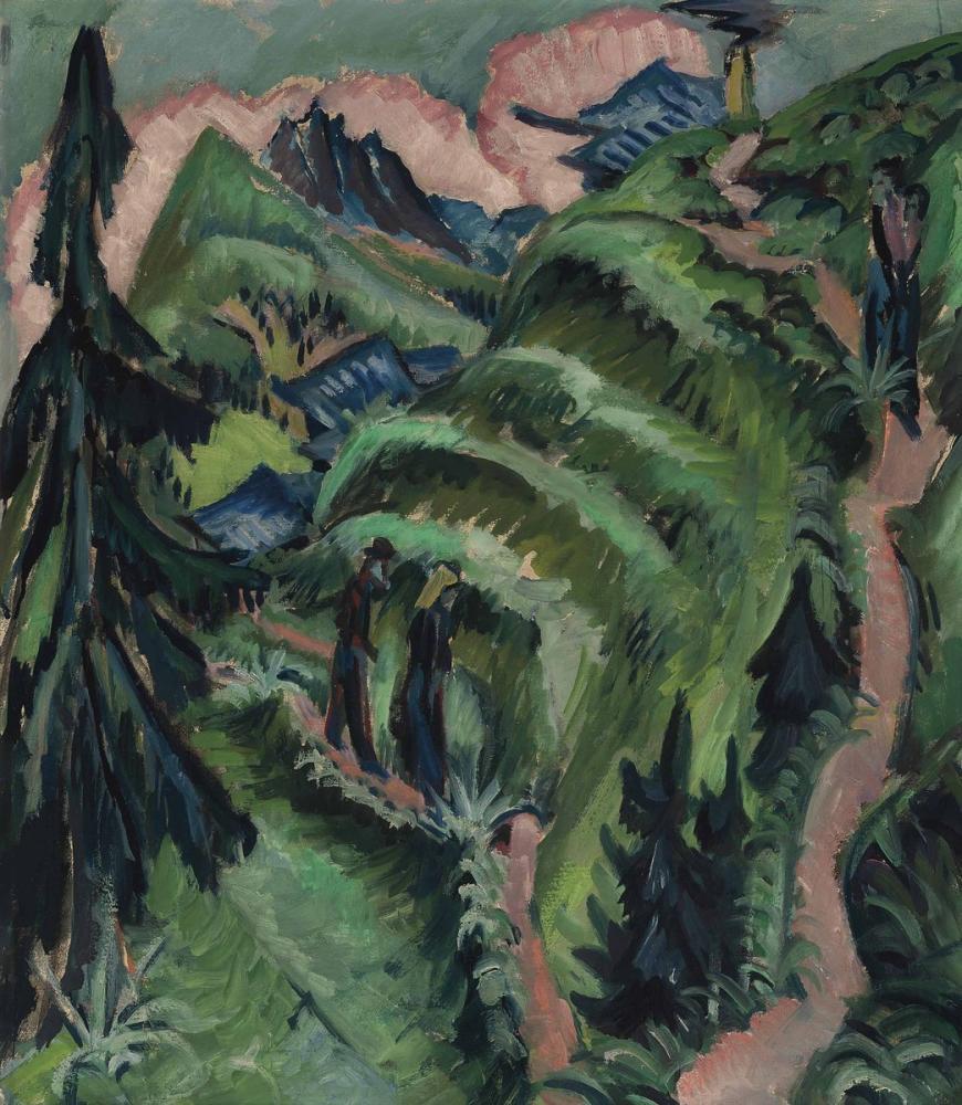 Ernst Ludwig Kirchner, Stafelalp mit Amselfluh, Figure, Ernst Ludwig Kirchner, kanvas tablo, canvas print sales