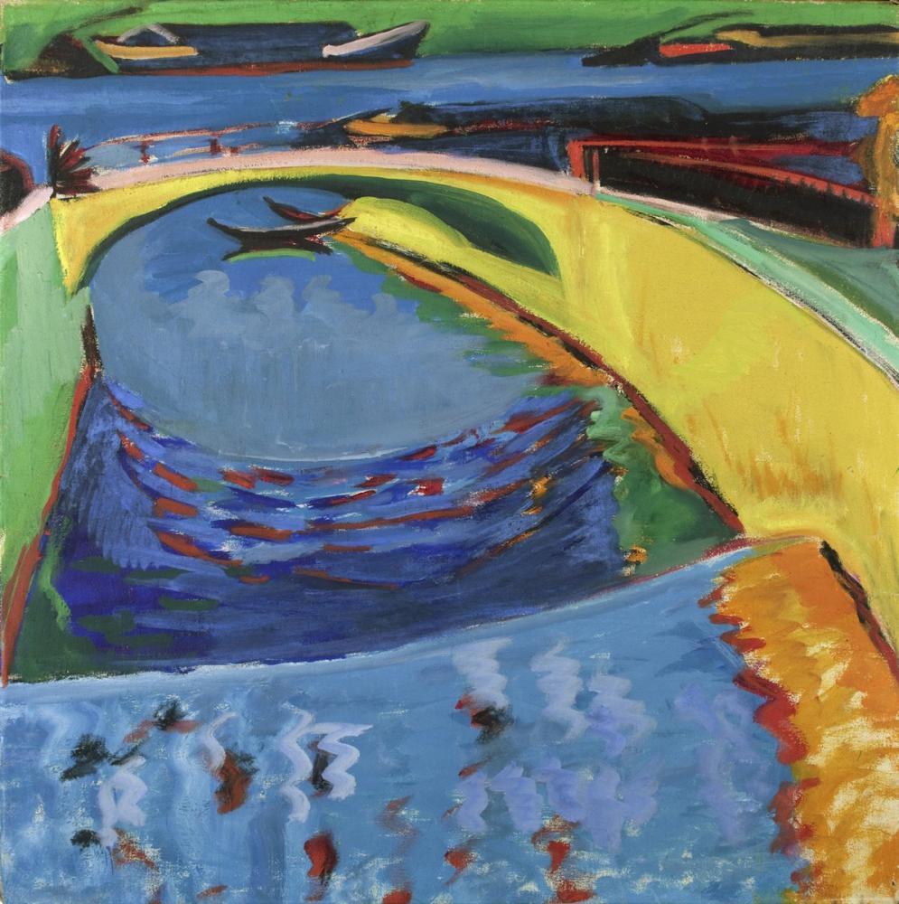 Ernst Ludwig Kirchner, Priessnitz in Ağzındaki Köprü, Kanvas Tablo, Ernst Ludwig Kirchner, kanvas tablo, canvas print sales