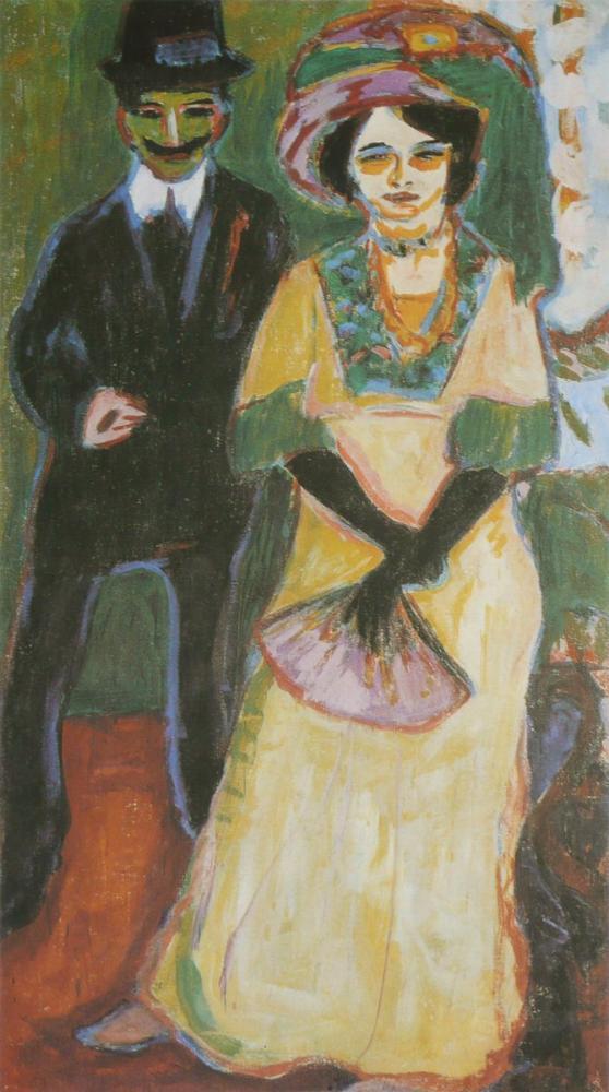 Ernst Ludwig Kirchner, Dodo ve Kardeşi, Figür, Ernst Ludwig Kirchner, kanvas tablo, canvas print sales