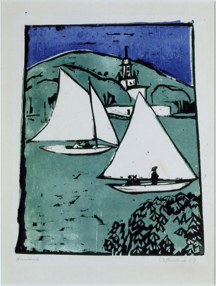 Ernst Ludwig Kirchner, Mueggelsee, Kanvas Tablo, Ernst Ludwig Kirchner, kanvas tablo, canvas print sales