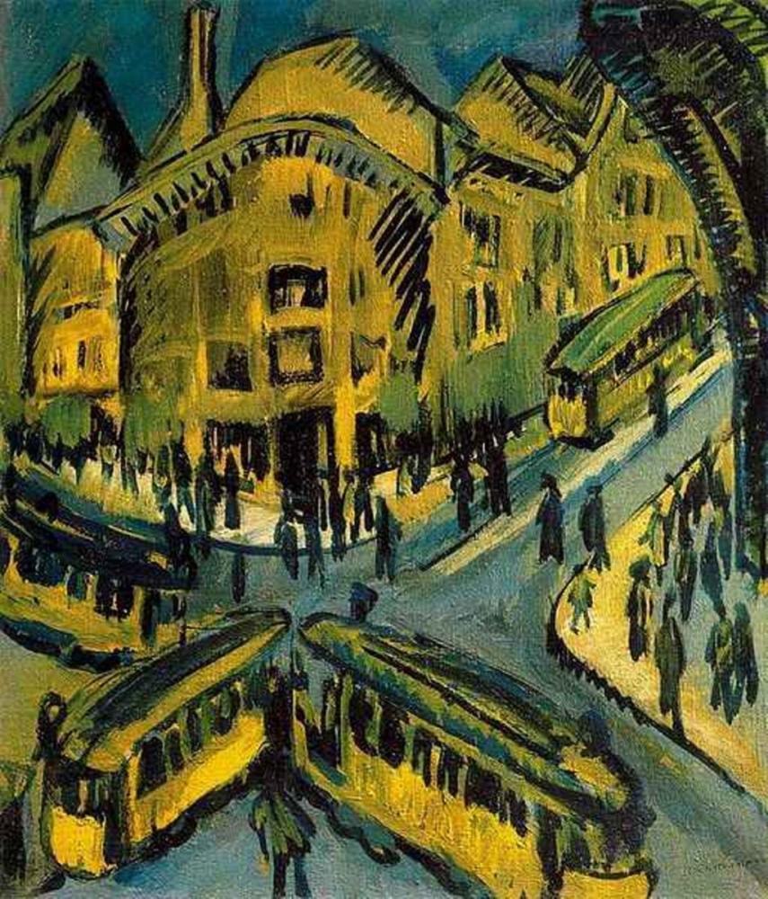 Ernst Ludwig Kirchner, Nollendorfplatz, Kanvas Tablo, Ernst Ludwig Kirchner, kanvas tablo, canvas print sales
