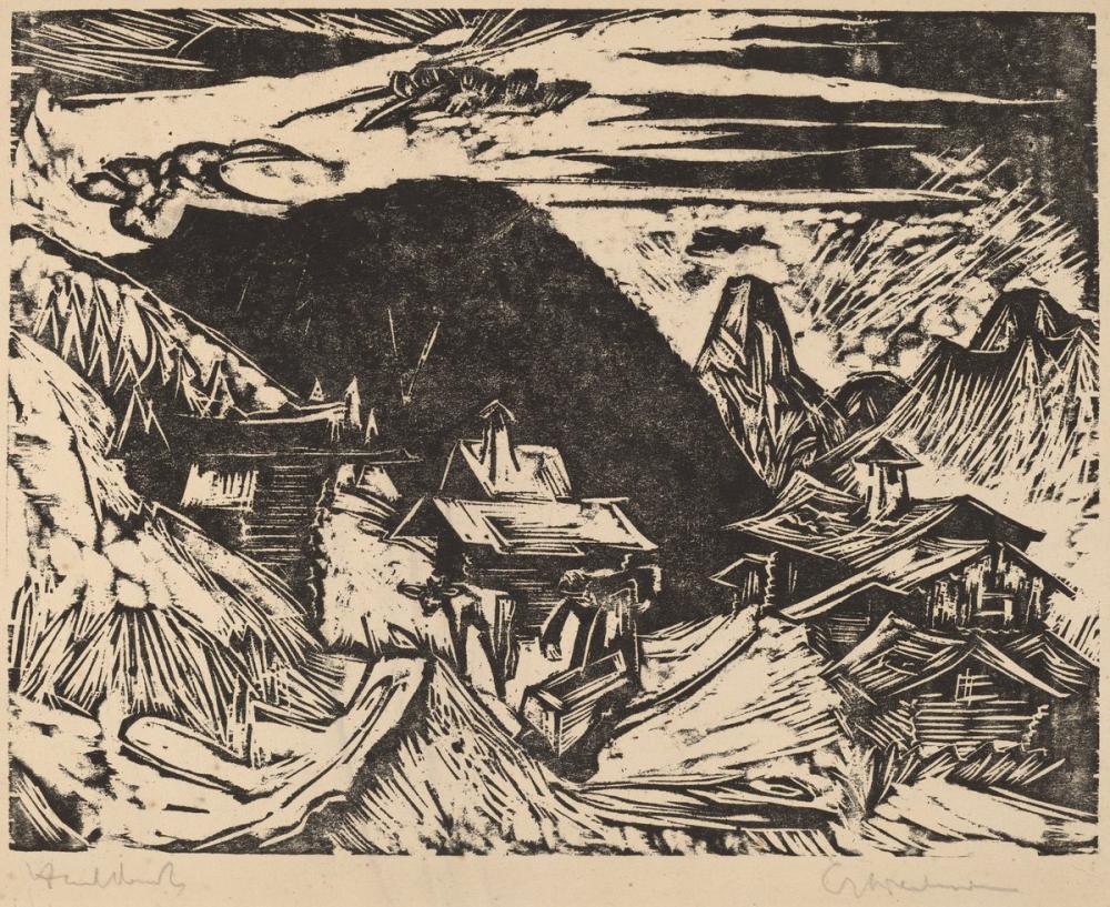 Ernst Ludwig Kirchner, Alp Merası, Kanvas Tablo, Ernst Ludwig Kirchner, kanvas tablo, canvas print sales
