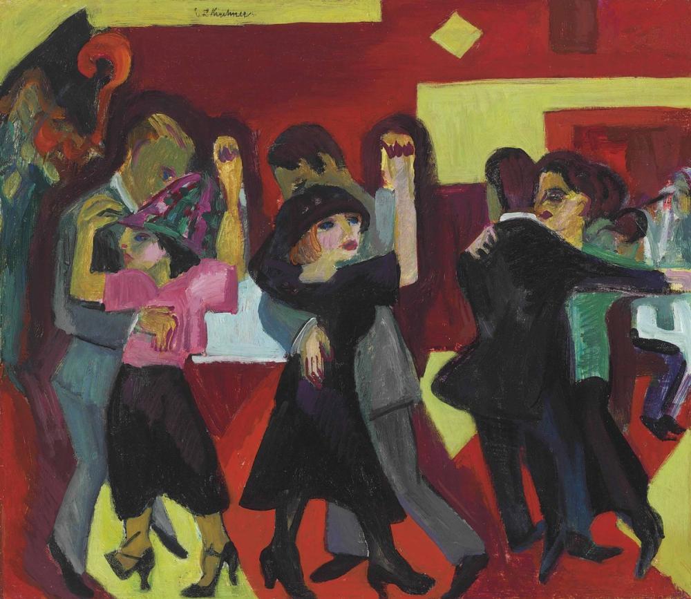 Ernst Ludwig Kirchner, Tango Çayı, Figür, Ernst Ludwig Kirchner, kanvas tablo, canvas print sales
