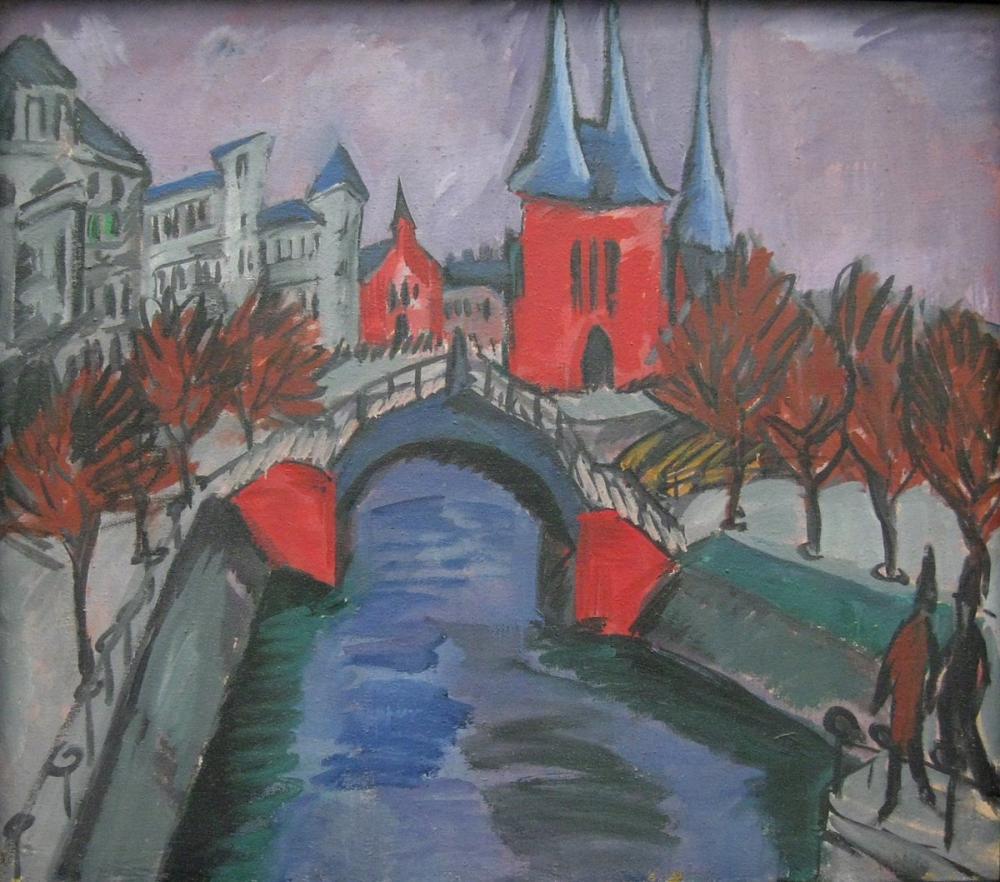Ernst Ludwig Kirchner, Elisabethufer, Kanvas Tablo, Ernst Ludwig Kirchner, kanvas tablo, canvas print sales