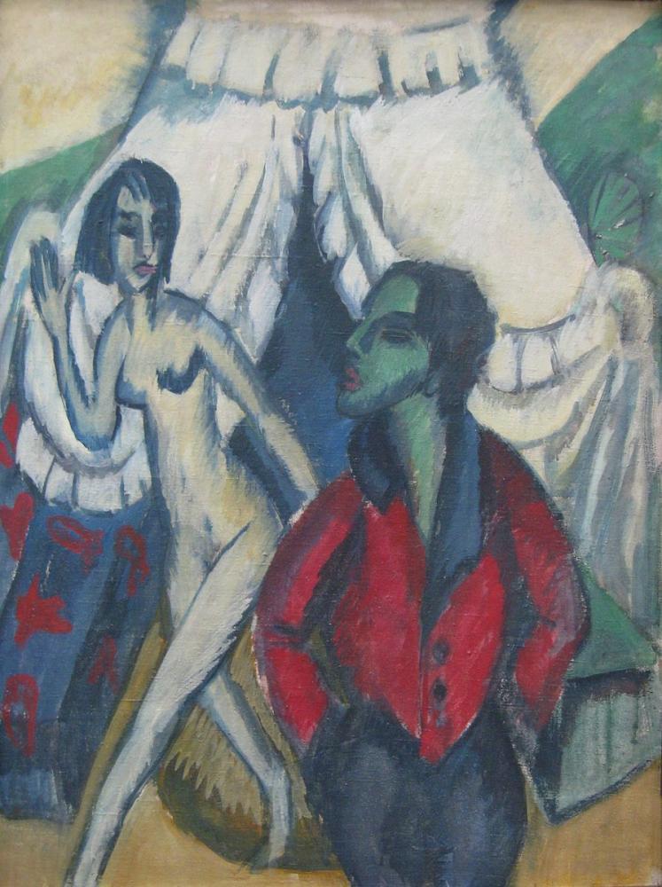 Ernst Ludwig Kirchner, Das Zelt, Figure, Ernst Ludwig Kirchner, kanvas tablo, canvas print sales