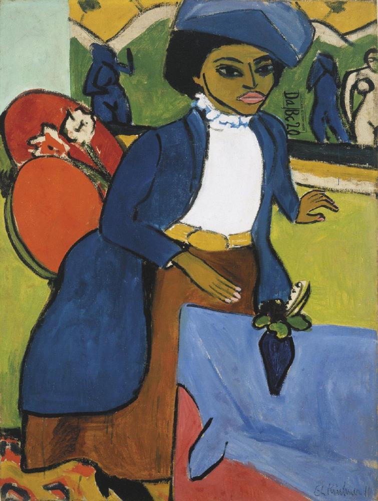 Ernst Ludwig Kirchner, Frauenbildnis, Figure, Ernst Ludwig Kirchner, kanvas tablo, canvas print sales