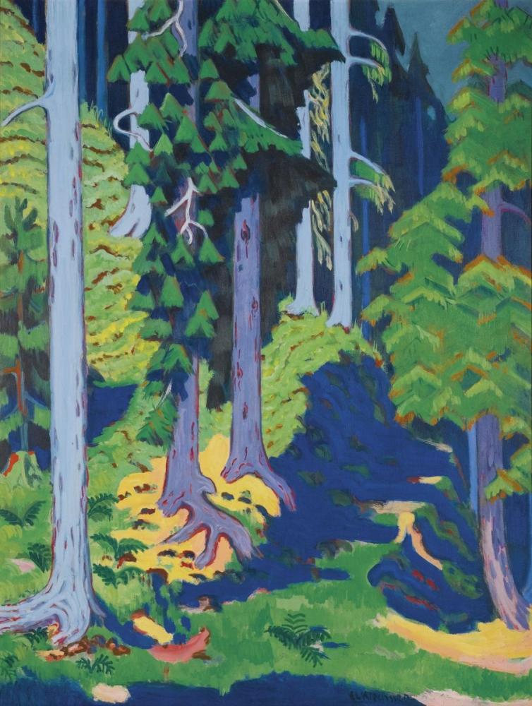 Ernst Ludwig Kirchner, Ormanın İçi, Kanvas Tablo, Ernst Ludwig Kirchner, kanvas tablo, canvas print sales