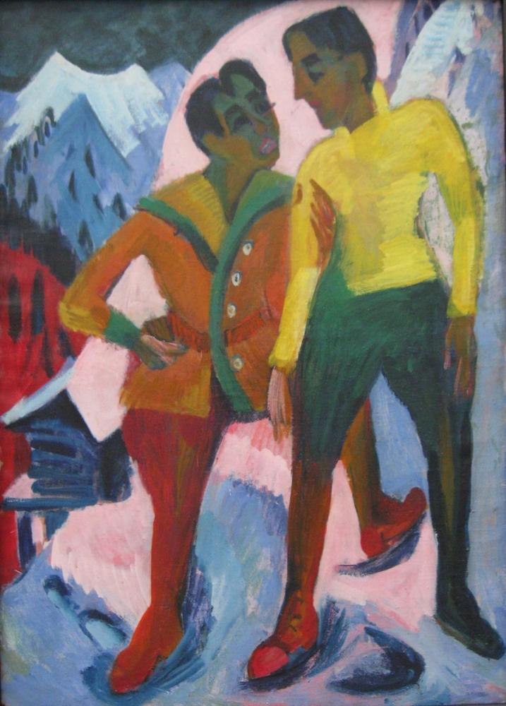 Ernst Ludwig Kirchner, İki Erkek Kardeş, Figür, Ernst Ludwig Kirchner, kanvas tablo, canvas print sales