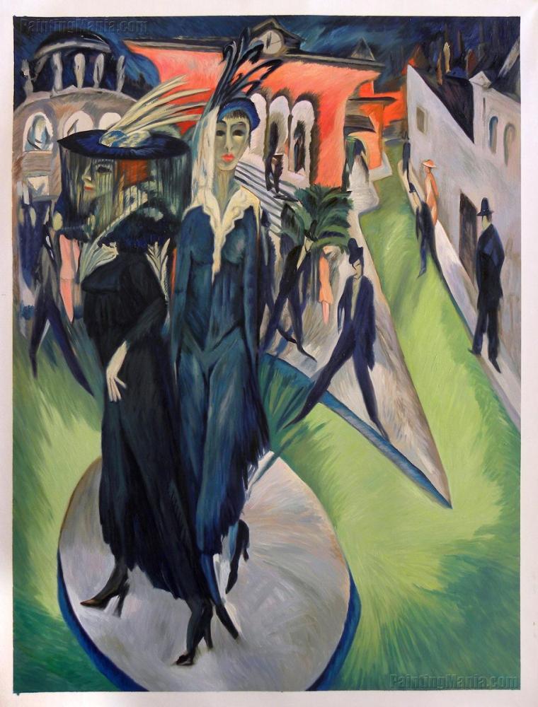 Ernst Ludwig Kirchner, Potsdamer Platz, Figür, Ernst Ludwig Kirchner, kanvas tablo, canvas print sales