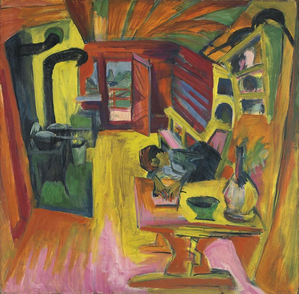 Ernst Ludwig Kirchner, Cocina Alpina, Figür, Ernst Ludwig Kirchner, kanvas tablo, canvas print sales