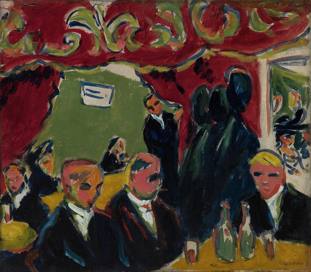 Ernst Ludwig Kirchner, Taverna, Figür, Ernst Ludwig Kirchner, kanvas tablo, canvas print sales
