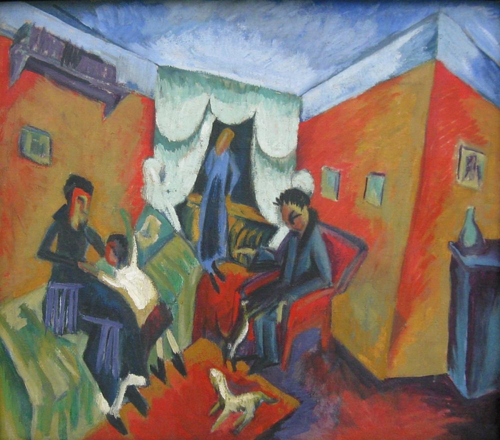 Ernst Ludwig Kirchner, iç Mekan, Figür, Ernst Ludwig Kirchner, kanvas tablo, canvas print sales