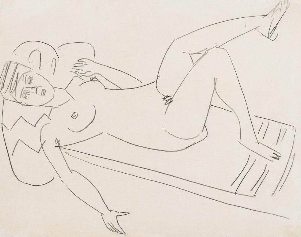 Ernst Ludwig Kirchner, Yalan Söyleyen Kız, Figür, Ernst Ludwig Kirchner, kanvas tablo, canvas print sales