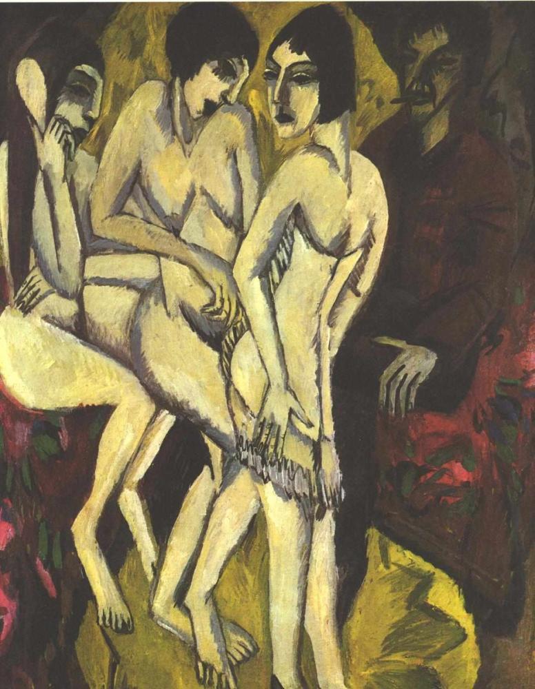Ernst Ludwig Kirchner, Paris Yargısı, Figür, Ernst Ludwig Kirchner, kanvas tablo, canvas print sales