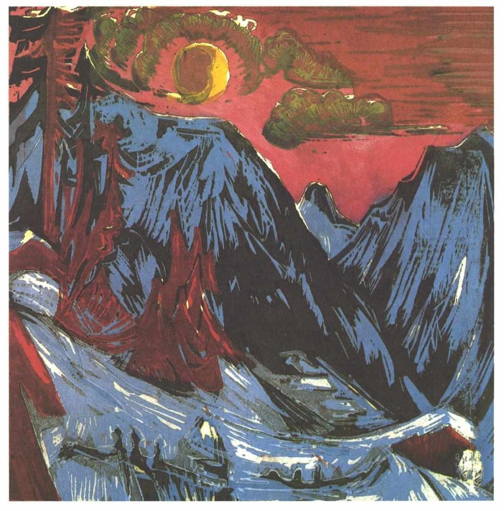 Ernst Ludwig Kirchner, Mehtaplı Gece, Kanvas Tablo, Ernst Ludwig Kirchner, kanvas tablo, canvas print sales