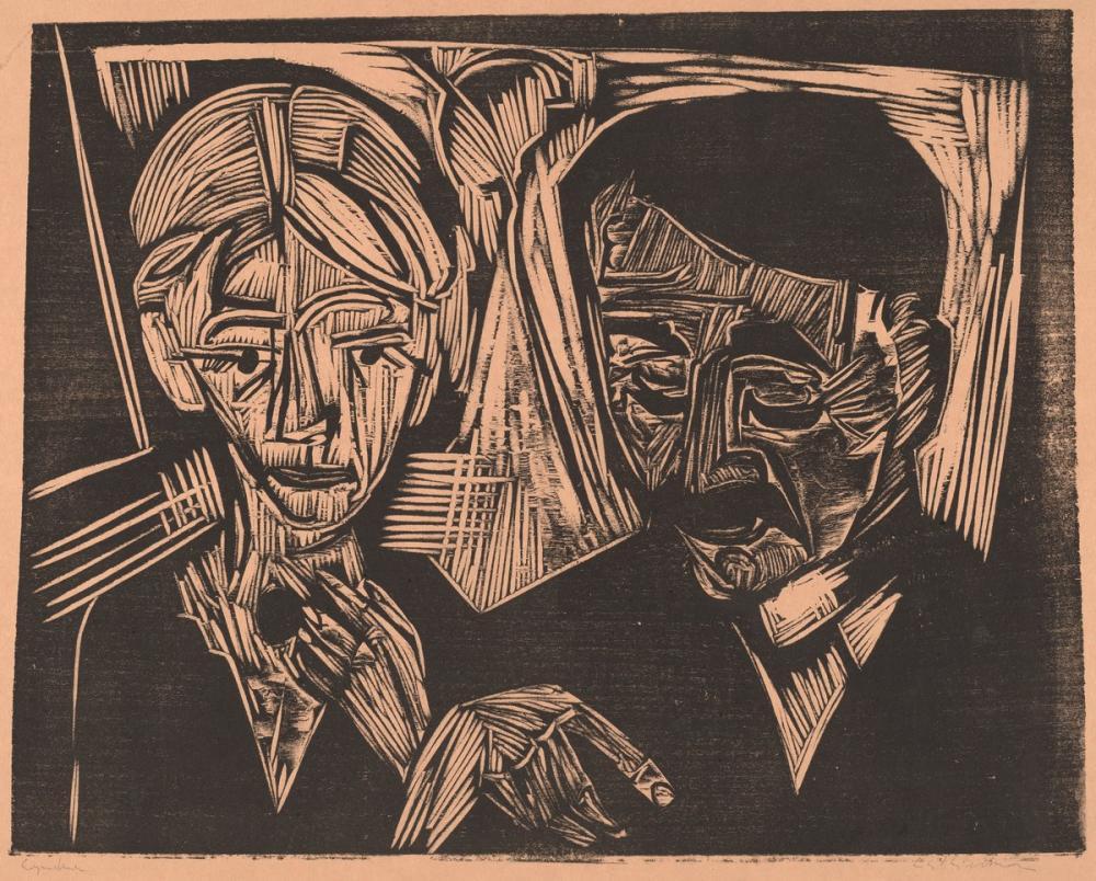 Ernst Ludwig Kirchner, Evli Çift Müller, Figür, Ernst Ludwig Kirchner, kanvas tablo, canvas print sales