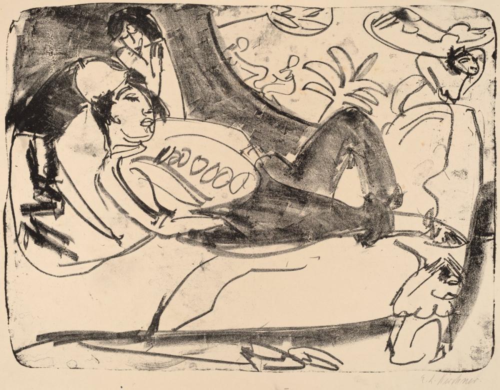 Ernst Ludwig Kirchner, Siesta, Figür, Ernst Ludwig Kirchner, kanvas tablo, canvas print sales