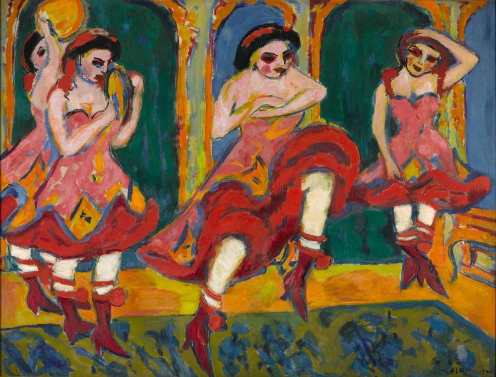 Ernst Ludwig Kirchner, Czardas Dansçıları, Figür, Ernst Ludwig Kirchner, kanvas tablo, canvas print sales