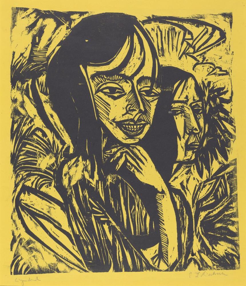 Ernst Ludwig Kirchner, Fehmarn Kızlar, Figür, Ernst Ludwig Kirchner, kanvas tablo, canvas print sales