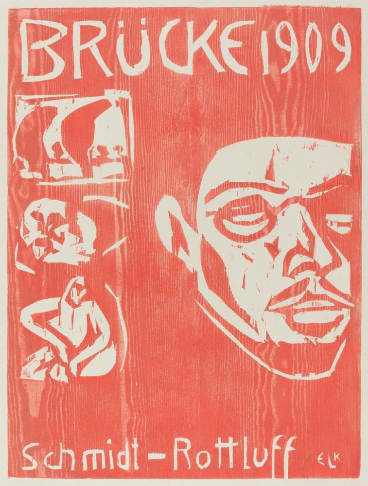 Ernst Ludwig Kirchner, Brucke Sanatçı Grubu nun Dördüncü Yıllığı nın Kapağı, Figür, Ernst Ludwig Kirchner, kanvas tablo, canvas print sales