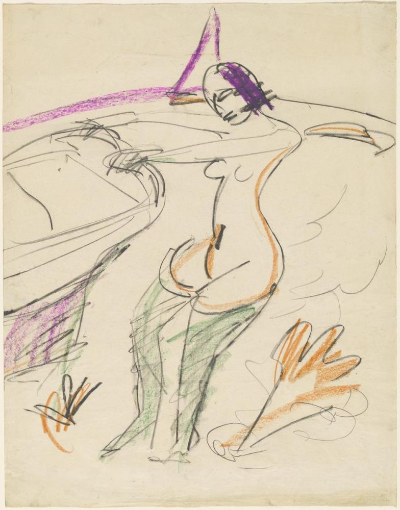 Ernst Ludwig Kirchner, Yıkanma, Figür, Ernst Ludwig Kirchner, kanvas tablo, canvas print sales