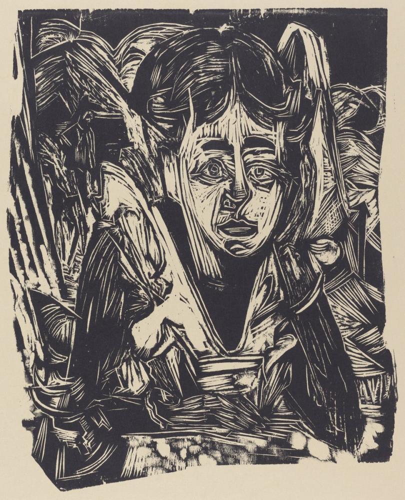 Ernst Ludwig Kirchner, Kız Rüyası, Figür, Ernst Ludwig Kirchner, kanvas tablo, canvas print sales
