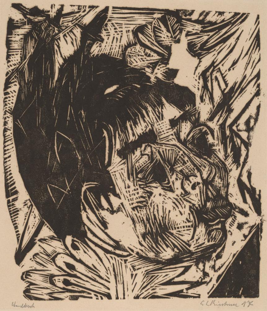 Ernst Ludwig Kirchner, Profesör Schaxel in Karısı, Figür, Ernst Ludwig Kirchner, kanvas tablo, canvas print sales