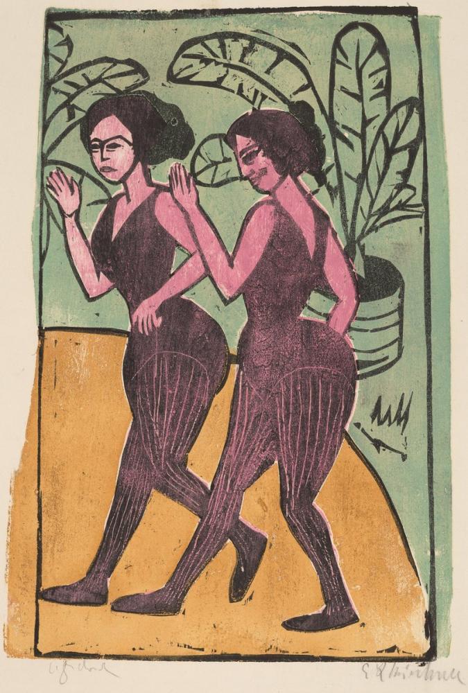 Ernst Ludwig Kirchner, İngiliz Step Dansçıları, Figür, Ernst Ludwig Kirchner, kanvas tablo, canvas print sales