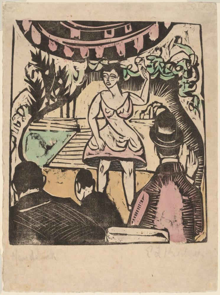 Ernst Ludwig Kirchner, Şarkıcı ile Küçük Çeşitli Hareket, Figür, Ernst Ludwig Kirchner, kanvas tablo, canvas print sales