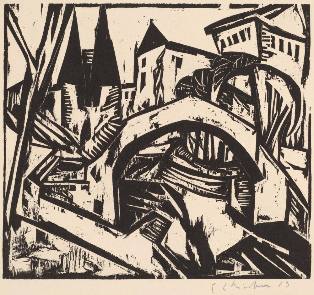 Ernst Ludwig Kirchner, Nehir Kıyısında Elisabeth, Berlin, Kanvas Tablo, Ernst Ludwig Kirchner, kanvas tablo, canvas print sales