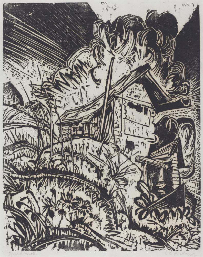 Ernst Ludwig Kirchner, Dağ Evi, Kanvas Tablo, Ernst Ludwig Kirchner, kanvas tablo, canvas print sales