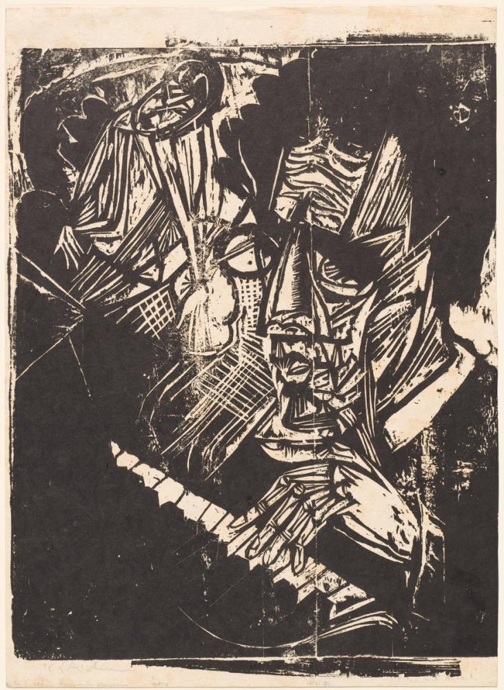 Ernst Ludwig Kirchner, Besteci Klemperer, Figür, Ernst Ludwig Kirchner, kanvas tablo, canvas print sales