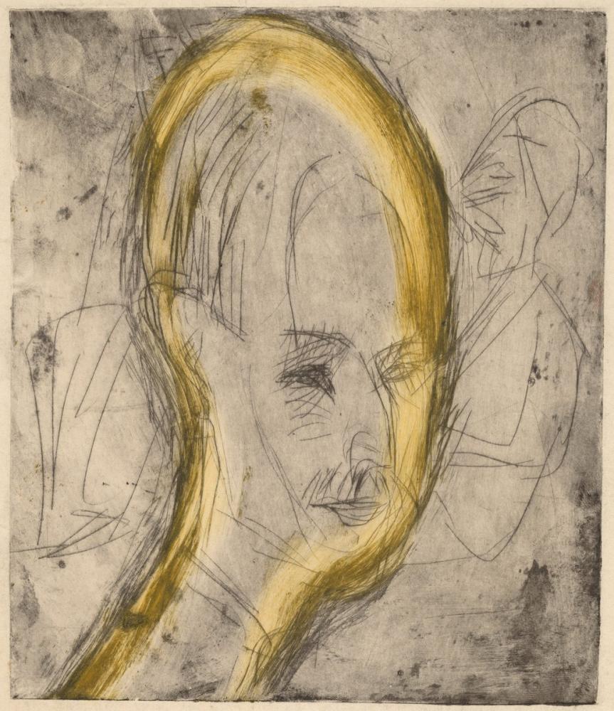 Ernst Ludwig Kirchner, Dr Bauer Başı II, Figür, Ernst Ludwig Kirchner, kanvas tablo, canvas print sales
