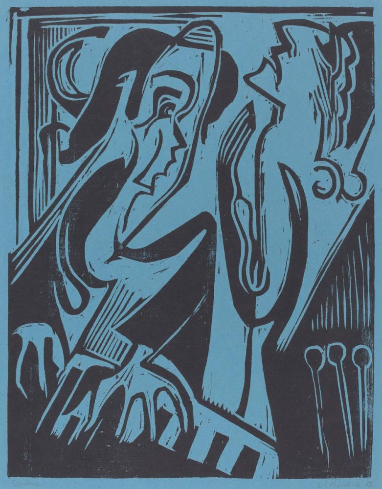 Ernst Ludwig Kirchner, Piyanist ve Şarkıcı, Figür, Ernst Ludwig Kirchner, kanvas tablo, canvas print sales
