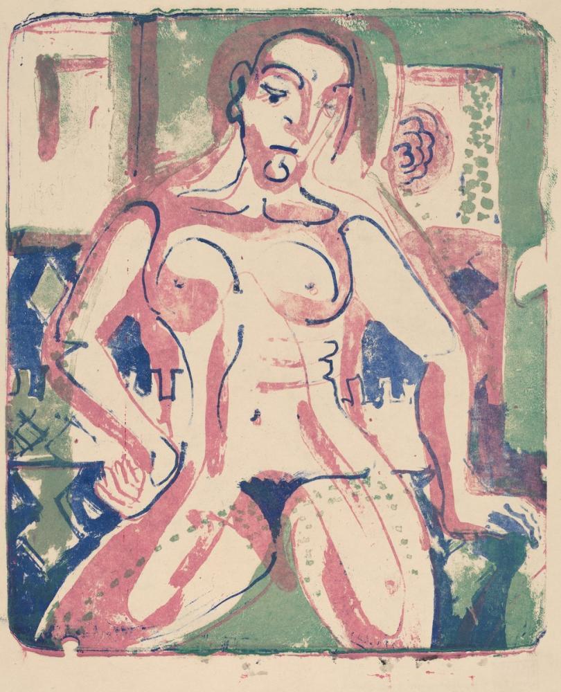 Ernst Ludwig Kirchner, Çıplak Kadın, Figür, Ernst Ludwig Kirchner, kanvas tablo, canvas print sales