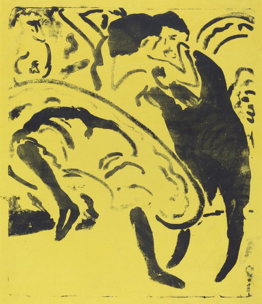 Ernst Ludwig Kirchner, Çift Dans, Figür, Ernst Ludwig Kirchner, kanvas tablo, canvas print sales