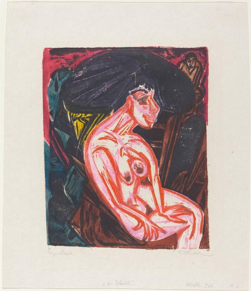 Ernst Ludwig Kirchner, Peter Schlemihl in Harika Hikayesi Sevgili, Figür, Ernst Ludwig Kirchner, kanvas tablo, canvas print sales