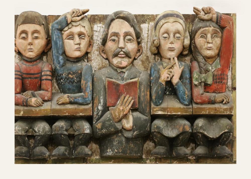 Ernst Ludwig Kirchner, Okul Çocukları ile Öğretmen Florian Bätschi, Figür, Ernst Ludwig Kirchner, kanvas tablo, canvas print sales