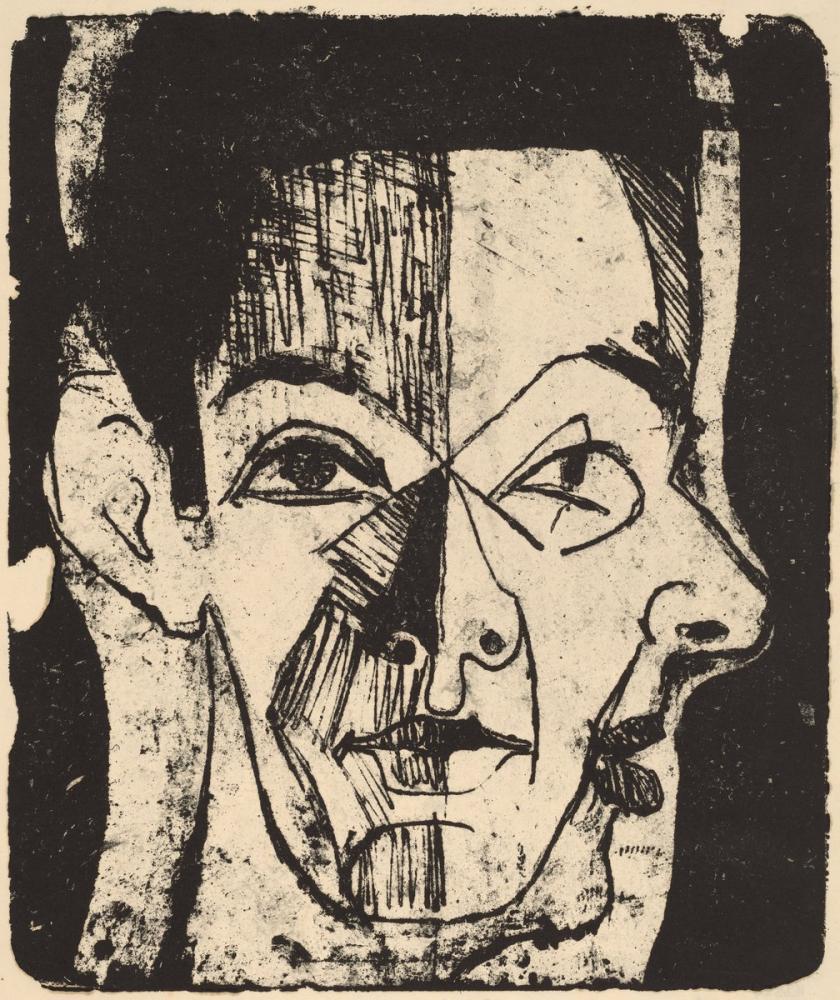 Ernst Ludwig Kirchner, Baş Çalışması, Figür, Ernst Ludwig Kirchner, kanvas tablo, canvas print sales