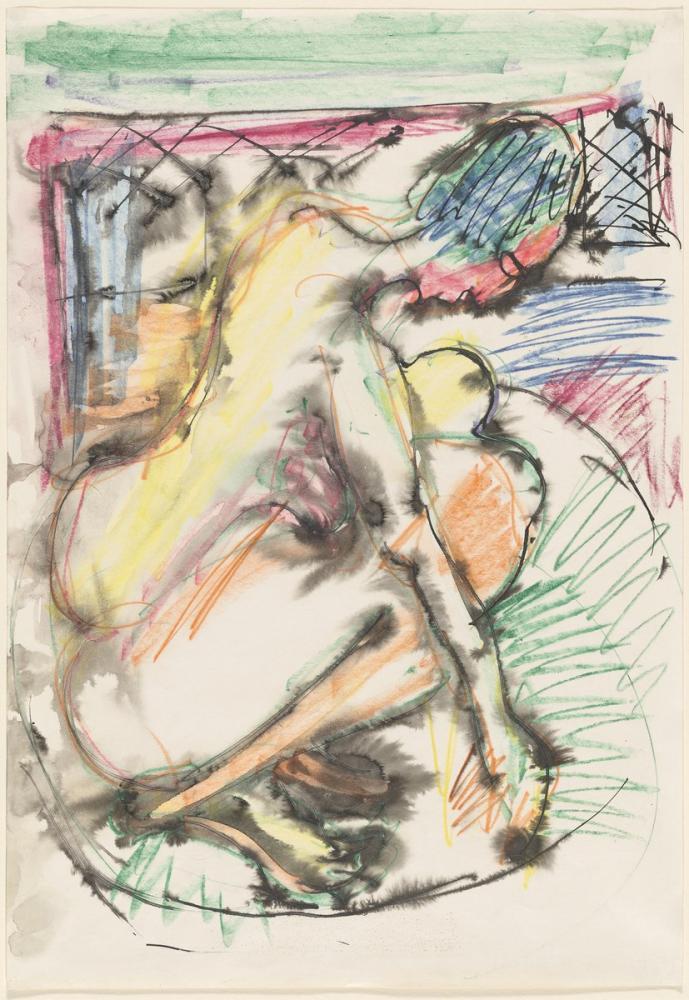 Ernst Ludwig Kirchner, Erna Bathing in a Tub, Figure, Ernst Ludwig Kirchner, kanvas tablo, canvas print sales