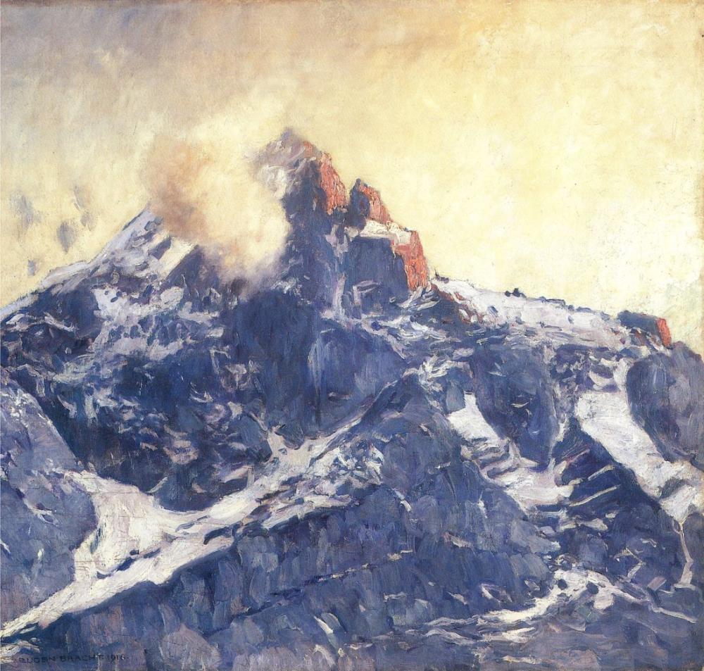 Eugen Bracht Zugspitze, Kanvas Tablo, Eugen Bracht, kanvas tablo, canvas print sales