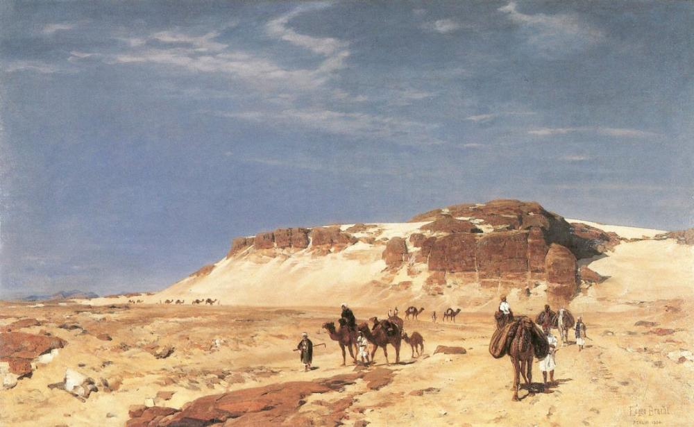 Eugen Bracht From The Sinai Desert, Canvas, Eugen Bracht, kanvas tablo, canvas print sales