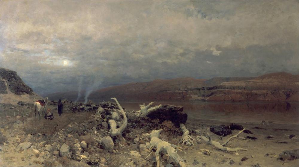Eugen Bracht Ölü Denizde Alacakaranlık, Kanvas Tablo, Eugen Bracht, kanvas tablo, canvas print sales